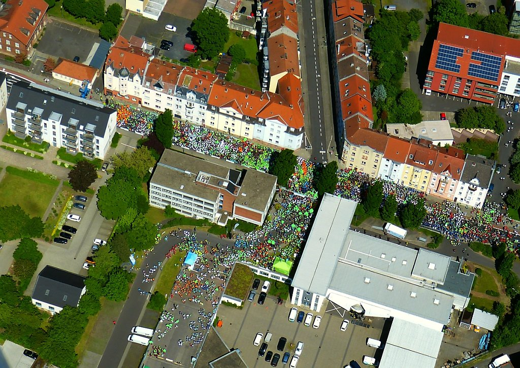 Fulda Challenge Lauf Luftbild